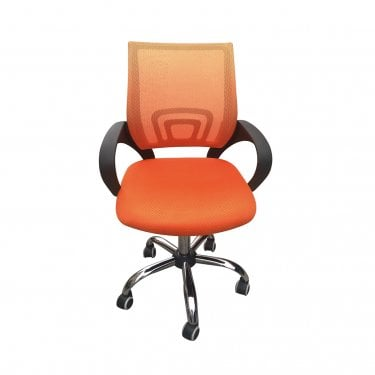 Tate Office Chair, Orange & Fabric Mesh