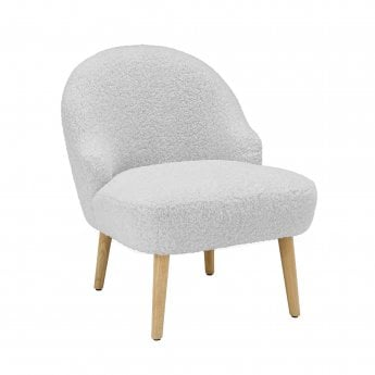LPD Furniture Ted Occasional Chair, Grey