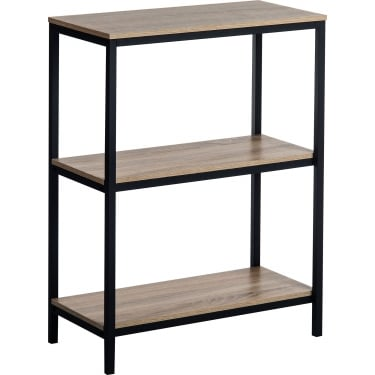 Teknik Industrial Style Charter Oak Bookcase with Black Metal Frame (5420276)
