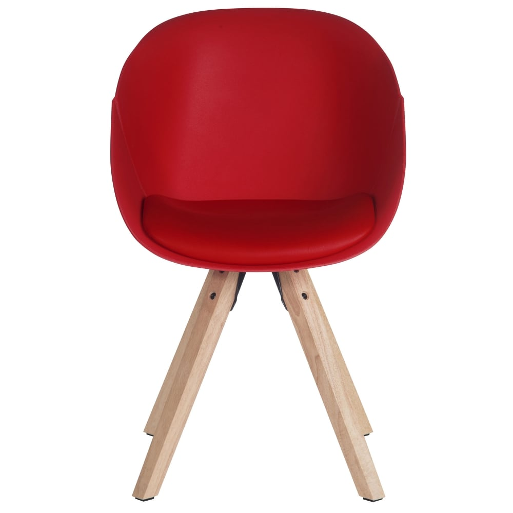 Teknik Pyramid Red Visitor Tub Chair | Leader Stores