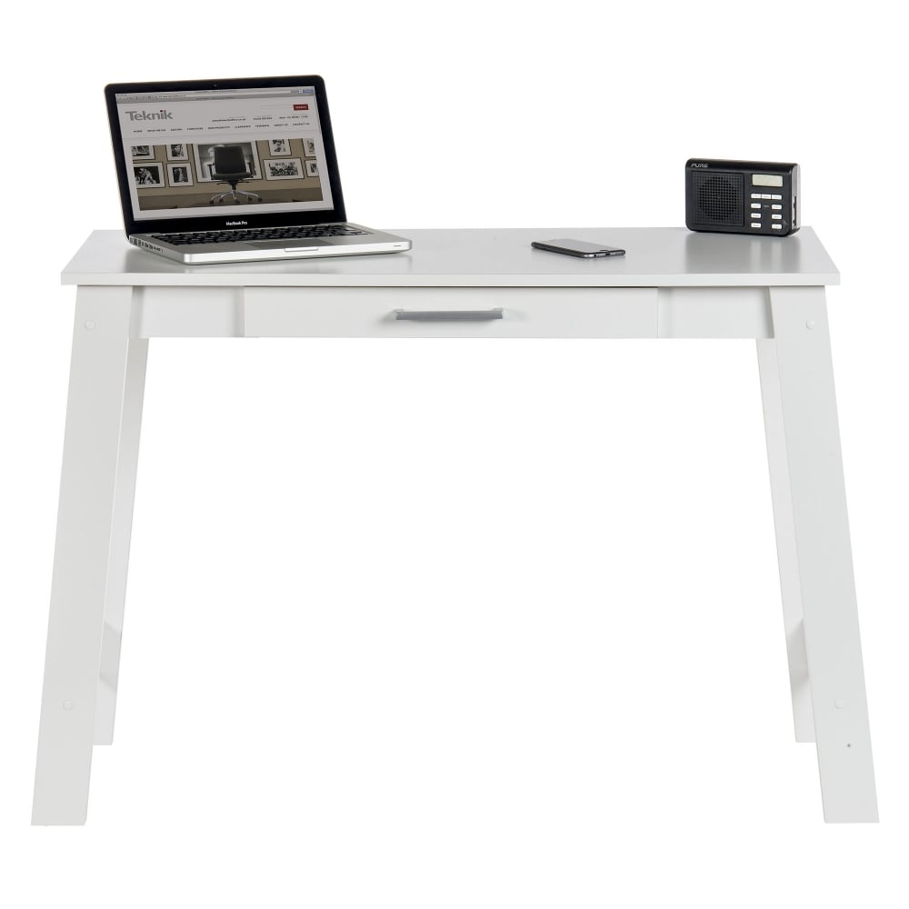 ... Teknik Soft White Trestle Desk (5417061)