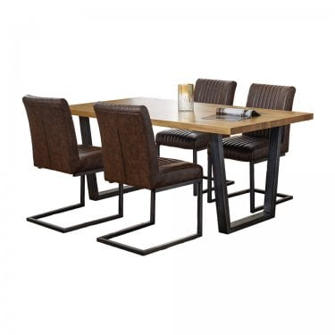 Temple Dining Set Of 4, Oak