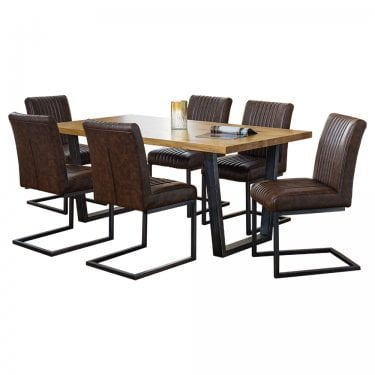 Temple Dining Set Of 6, Oak
