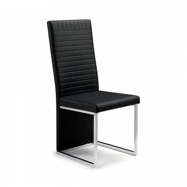Tempo Black Faux Leather Dining Chair