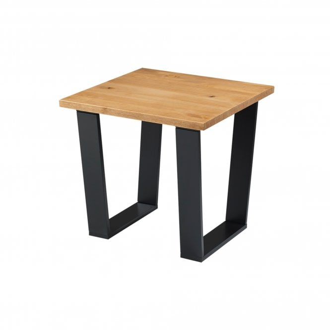 Texas Square Lamp Table, Pine