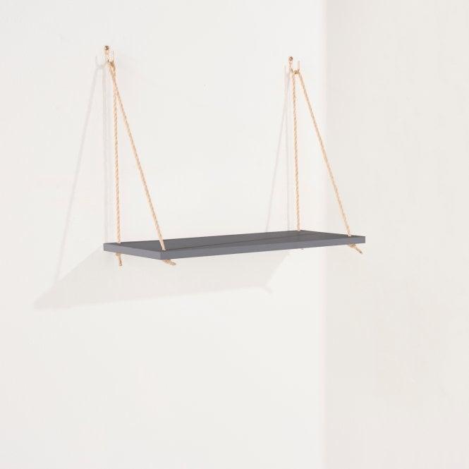 Thames Narrow Rope Shelf, Grey
