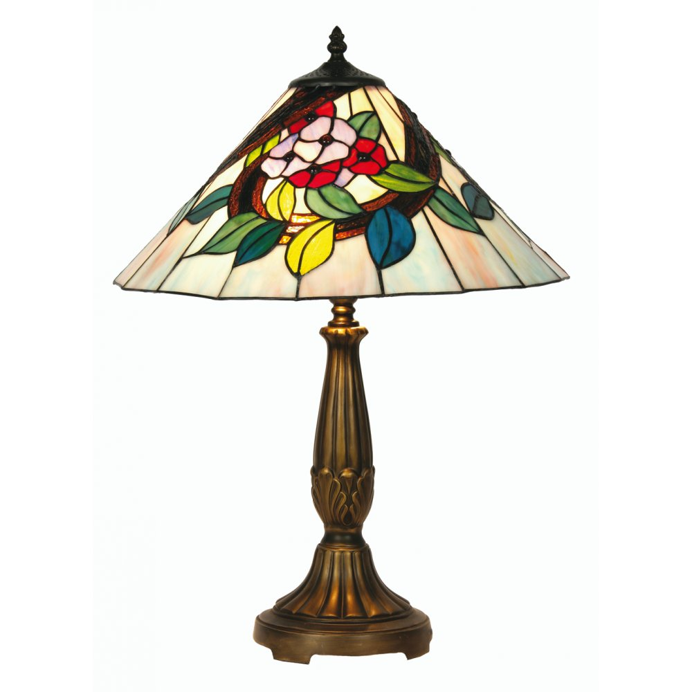 oaks lighting tiffany belle stained glass table lamp. Black Bedroom Furniture Sets. Home Design Ideas