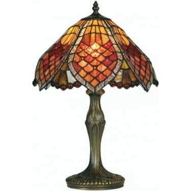Oaks Lighting Tiffany Orsino Stained Glass Table Lamp OT1318/12 TL