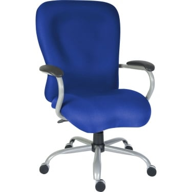 Titan Blue Heavy Duty Operator Chair with Gunmetal Base