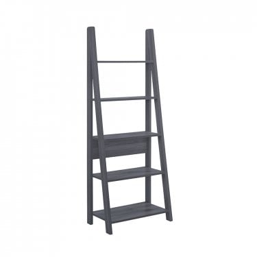 Tiva Black Ladder Bookcase