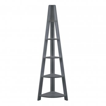 LPD Furniture Tiva Corner Ladder Shelf, Black