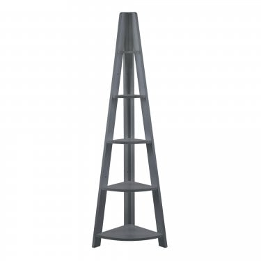 Tiva Corner Ladder Shelf, Black