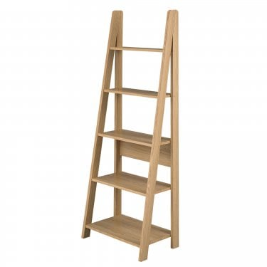 Tiva Oak Ladder Bookcase
