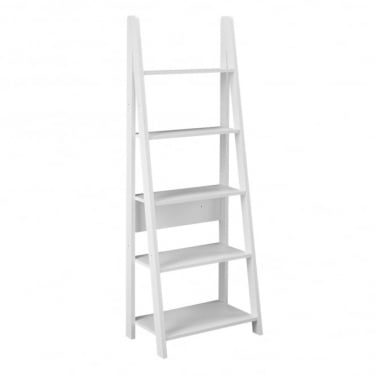 Tiva White Ladder Bookcase