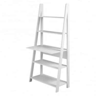 Tiva White Ladder Desk