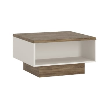 Toledo High Gloss Alpine White & Stirling Oak Coffee Table