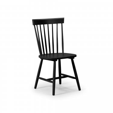 Torino Black Lacquered Dining Chair