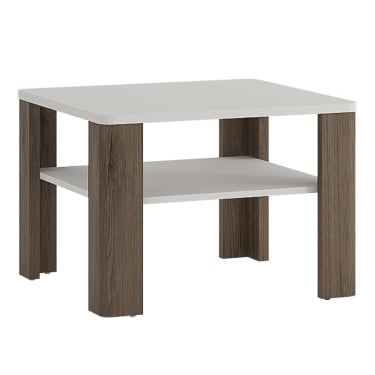 Toronto High Gloss White & San Remo Oak Inset Coffee Table