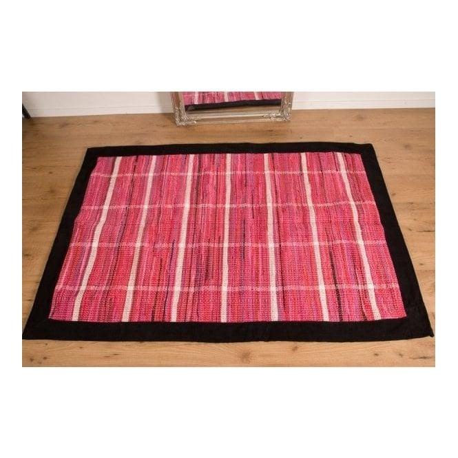 Real Rug Trasmatta Pink Cotton Rectangular Modern Rug