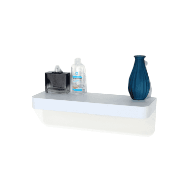 Trent Matt White 500x145mm Narrow Floating Shelf Kit