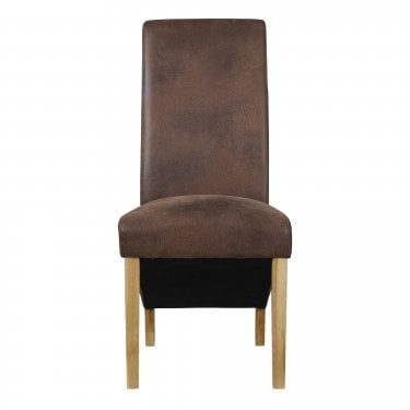 Treviso Brown Dining Chair Pair