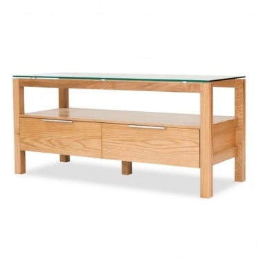 Tribeca Oak 2 Drawer TV Unit