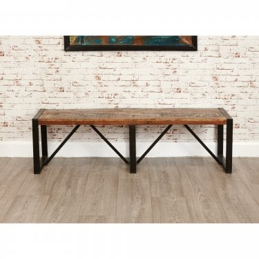 Urban Chic Large Rustic Dining Bench