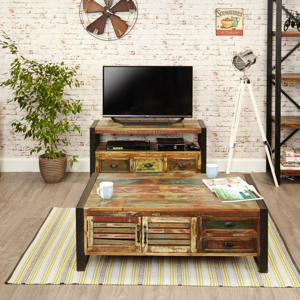 wholesale dealer 7c7eb c85e8 Urban Chic Medium Rustic TV Unit