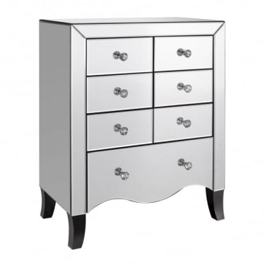 Valentina Mirrored 7 Drawer Chest