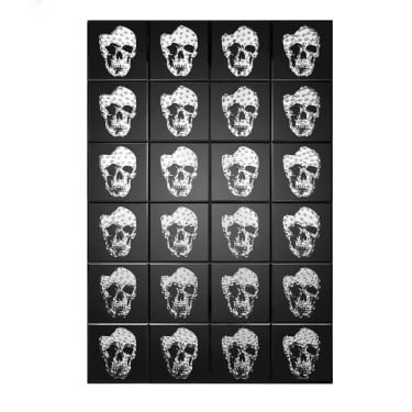 LPD Furniture Valentina Mirrored Skull Print (PRINTSKULL)