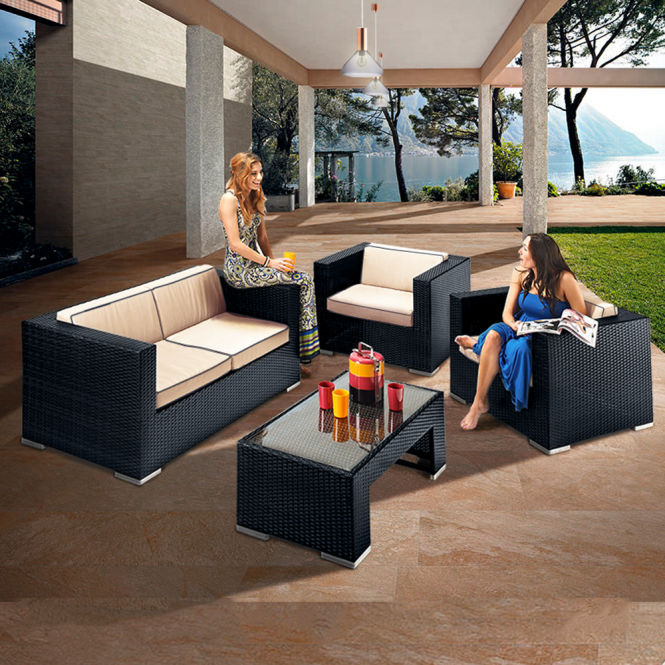 Richmond Verano Sofa 4 Black Rattan Sofa Set