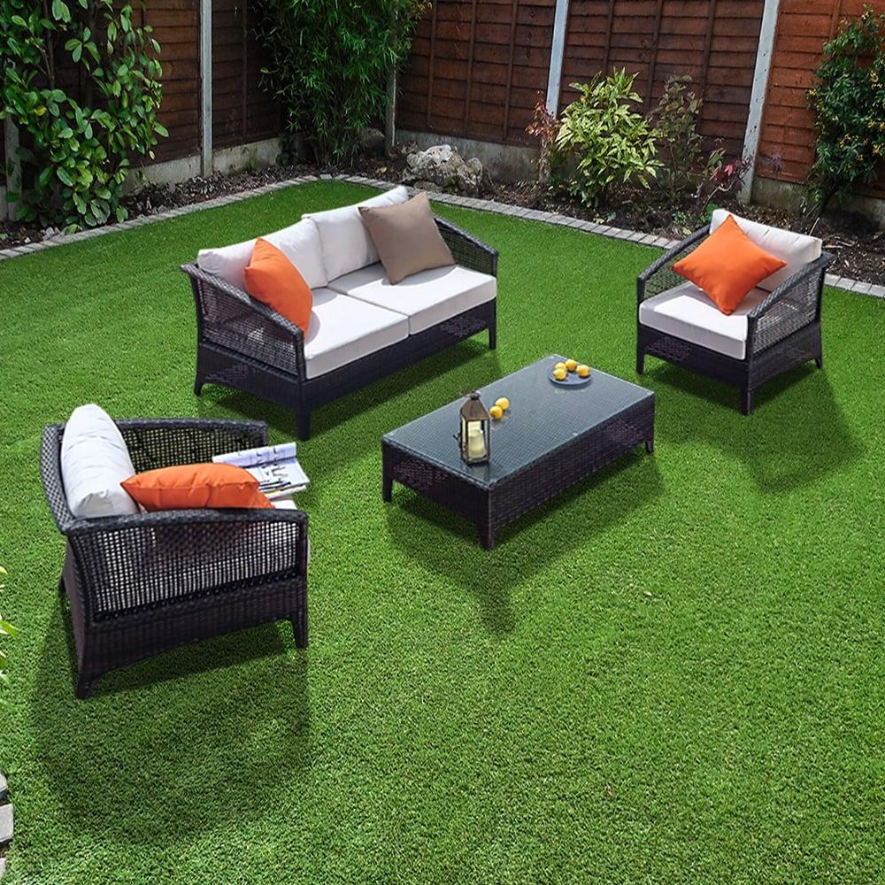 Richmond verano voyage sofa 4 rattan sofa set leader stores for Outdoor furniture 4 seater