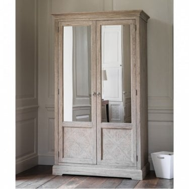 Verel 2 Door Mirrored Wardrobe, Aged Mindy Ash