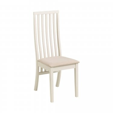 Vermont Ivory Faux Suede Dining Chair