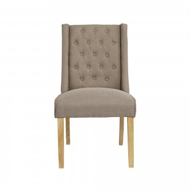 Verona Beige Wing Dining Chair Pair