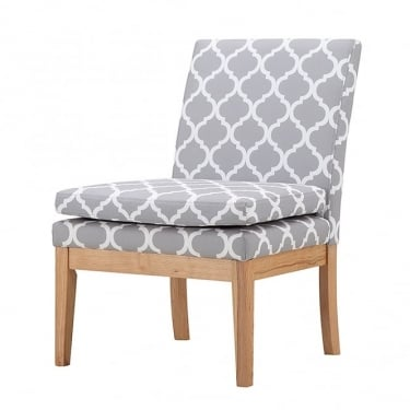 Victor Grey & White Wing Chair