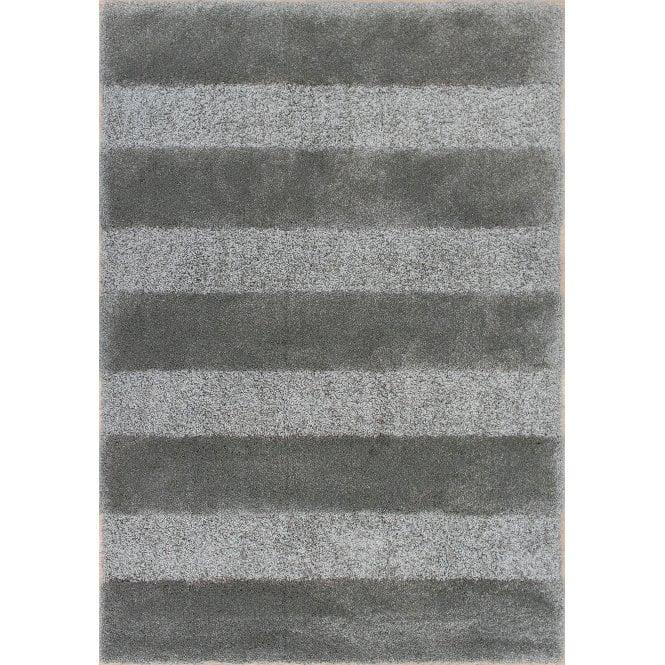 Vogue Dark Grey Stripes Rug 170x120cm (50054-100-120170)