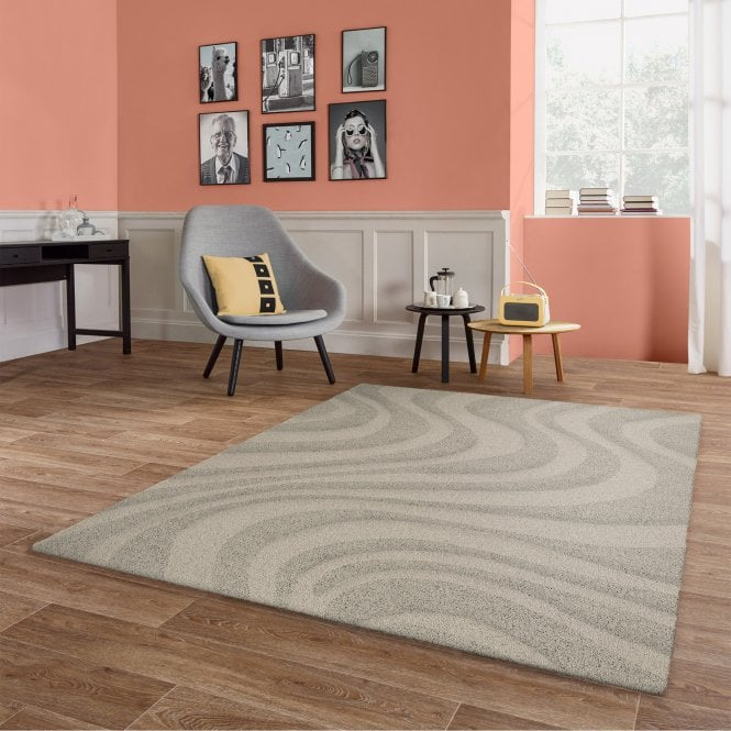 Vogue Grey Stripes Rug 170x120cm (50061-060-120170)