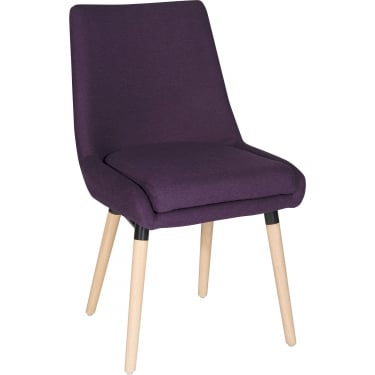 Welcome Plum Reception Chair with Oak Legs