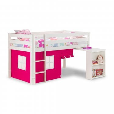 Wendy White Cabin Bed & Pink Underbed Tent