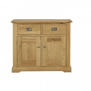 Westport Oak 2 Drawer 2 Door Small Sideboard