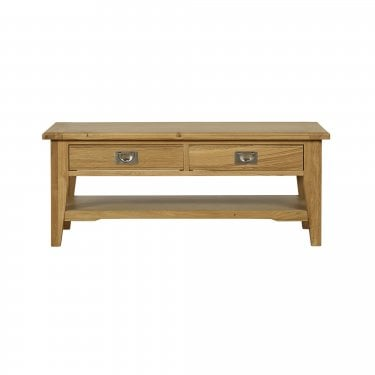 Westport Oak 2 Drawer Coffee Table