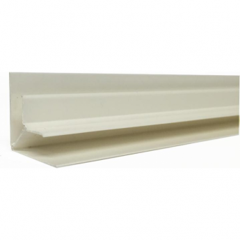 White PVC Plastic Cladding Internal Corner