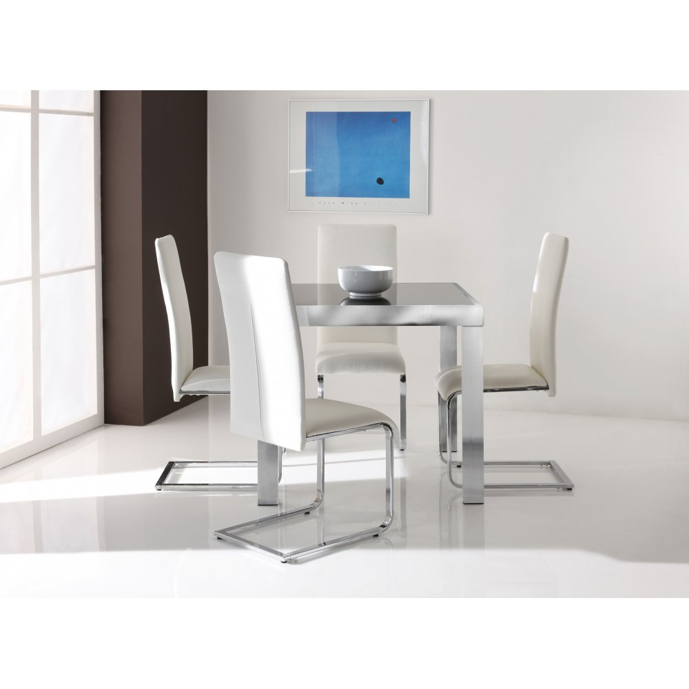 Dining table extending glass top dining table for Best extendable dining table
