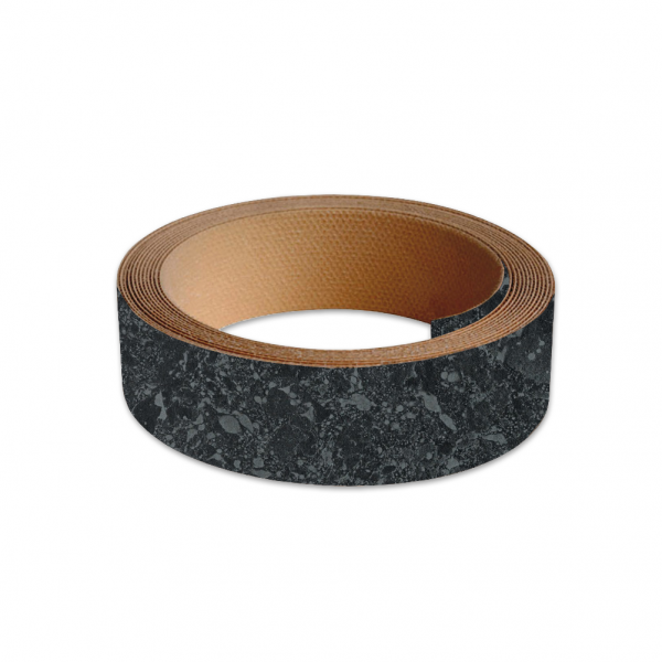 40mm Worktop Colour Match Edging Tape 3m Roll Midnight Granite Matt
