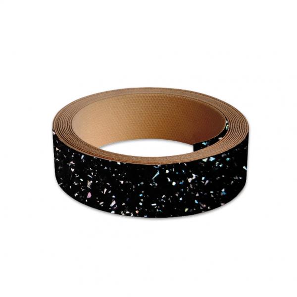 40mm Worktop Colour Match Edging Tape 3m Roll Strasse Noir Gloss