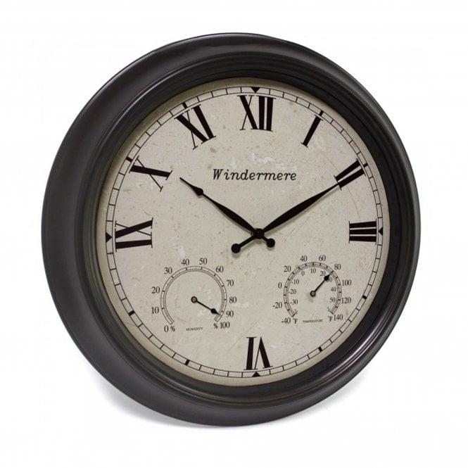 Windermere Outdoor Clock, Bronze