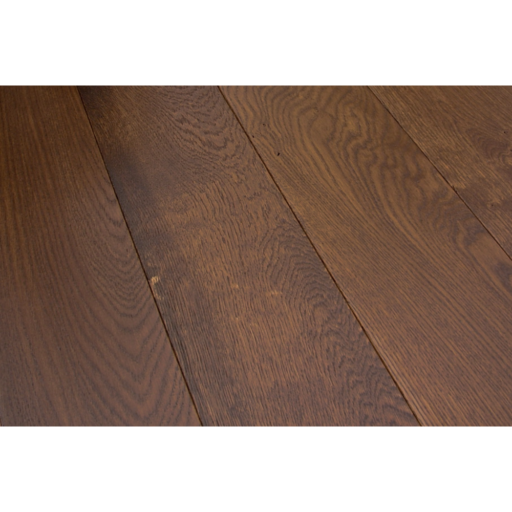 Solid oak 18x154mm caramel brushed lacquered real wood for Real solid wood flooring