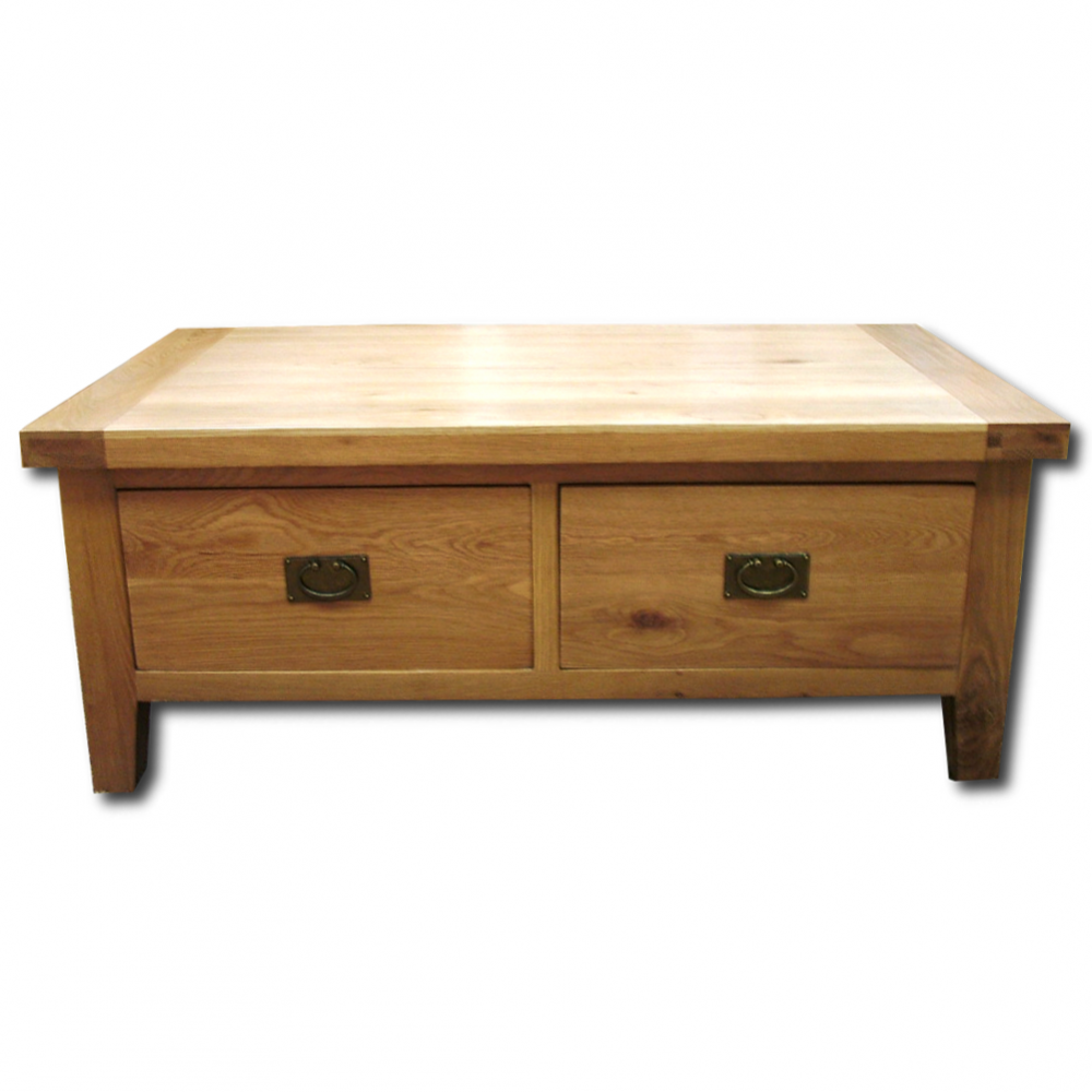Wood+ Furniture Montpellier Solid Oak 2 Drawer Coffee Table