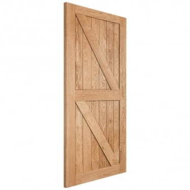 WoodDoor+ Internal Solid Prime Grade Oak Framed, Ledged & Braced Door